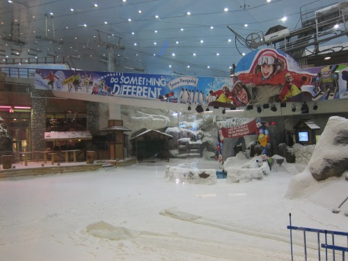 Skiing Inside the Mall of Emirates