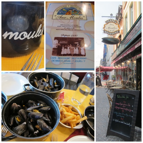 Mussels and Fries at Aux Moules