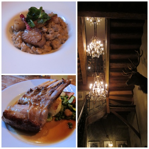 Scallops and Risotto and Veal Chops at Le Barbue D'Anvers