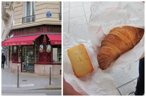 Le Moulin de Rosa: Croissant for 1.1 euro; Financier for 1.2 euro