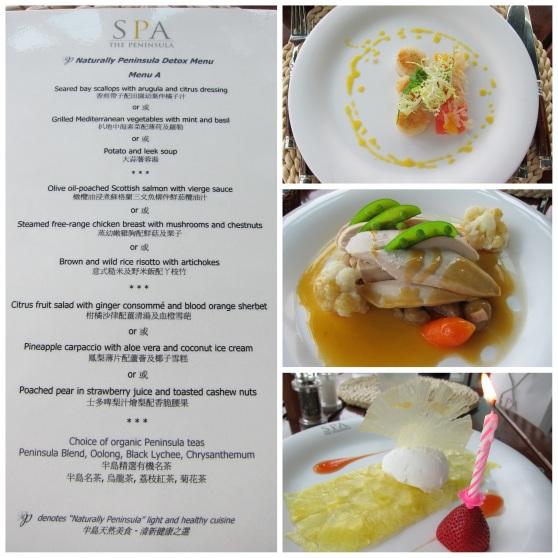 Peninsula Spa Food